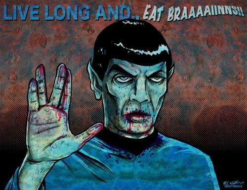 gamefreaksnz:  hello-zombie:  via  This one loves the Spock.