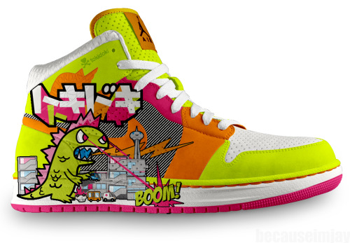samberryjam:  anybeat:  (via chelsisanchez) I just died. Nike + Tokidoki = ♥  Yep. Just died. Want.