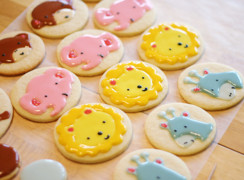 SO CUTE THAT I WANT TO HAVE BIG BITES NOW! thinkofprettythings:  ZOMG cutest cookies EVAAAAAH.  happythings:  treecastle: yssirhcmik: veggieparadise: mondojergens: cute animal cookies (via iammommy)   (via -deactivated2010043-deactivated)