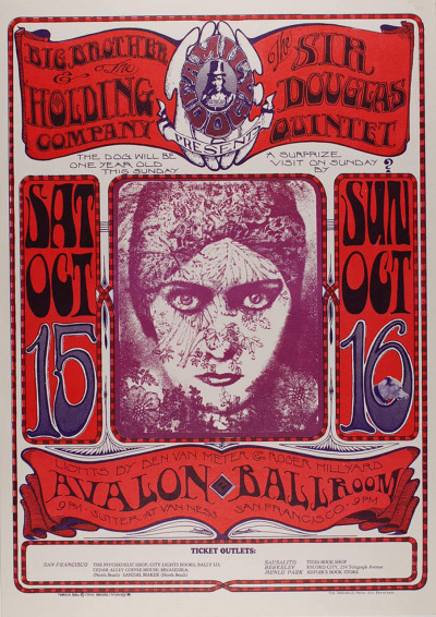 Big Brother and the Holding company concert poster. And a pair of piercing eyes :-p