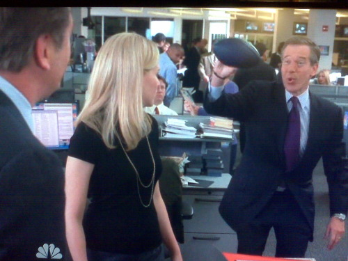 "Of note: Brian Williams running into the newsroom and yelling ""Hey, CNBC - Nightly News rules!!!"" is fucking hilarious, because this scene wasn't shot at CNBC, rather at New York 1, New York City's 24-hour newschannel."