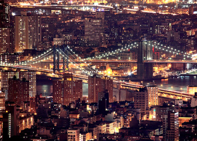 Manhattan and Brooklyn Bridges (via Wiggum03)