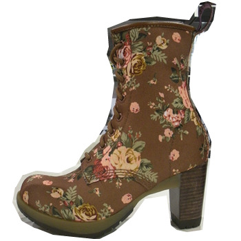 Doc Martens Fall 2010 – floral heeled boot (via nylon)