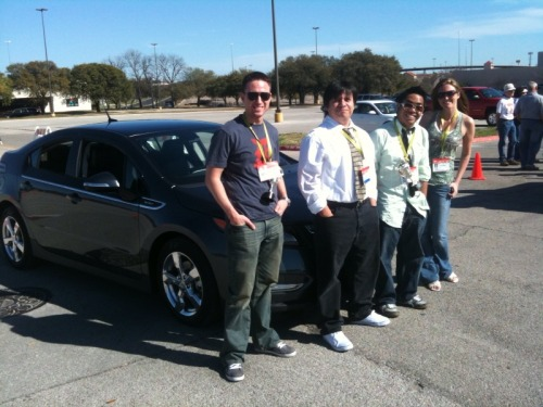 detroitsxsw:  We got to drive the new Chevy Volt. @bchesnutt, @davemurr, @balanon, @walkerau  NICE.
