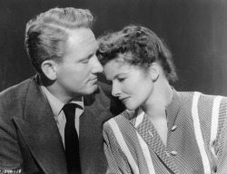 vintageamore:  Spencer Tracy and Katharine Hepburn