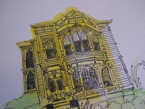 A San Francisco Beauty Watercolor Illustration, March 2010