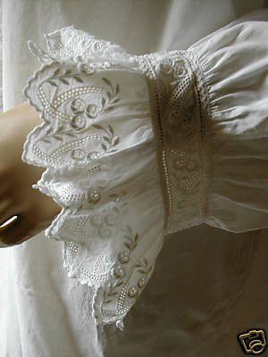 Victorian Nightdress Sleeve Cuff 1 (via mondas66)
