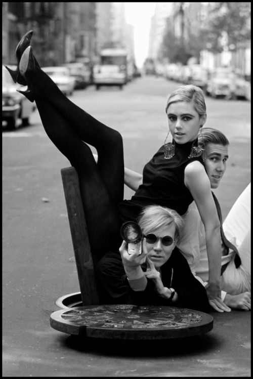 New York. 1965. Andy Warhol, Edie Sedgwick and Chuck Wein