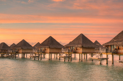 Intercontinental Bora Bora - Sunrise (via SF Brit)