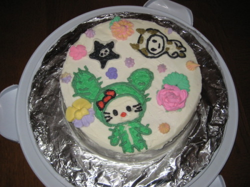 Cactus Kitty Cake