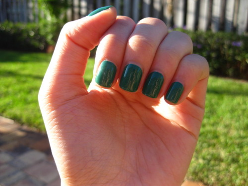 lalalalizzy:  Victoria got me the OPI polish 'jade is the new black' just in time for St. Patrick's Day
