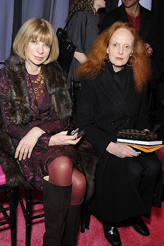 sporkula:  Anna Wintour and Grace Coddington. Basically the most powerful people in the fashion industry. Also, my biggest inspiration.