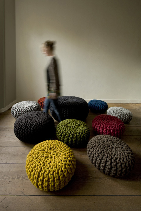 Beautiful poufs by from christienmeindertsma.com