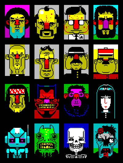 pixelstyle:  Spectrum ZX Faces by Ptoing - 2008