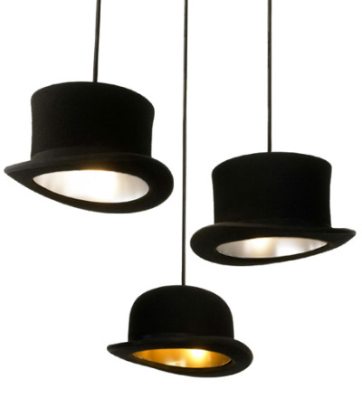 Hat lightshades by http://www.jakephipps.com/ Light Hats Are So 19th Century  | The UberReview