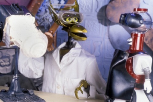 Crow in a labcoat!! via fuckyeahmst3k: daysrunaway