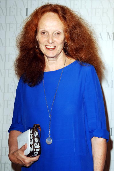 Grace Coddington attends the Le Mer Celebrates 'Liquid Light' By Fabien Baron at The Glass House on September 10, 2008 in New York City (Photo by Gustavo Caballero/WireImage for Estee Lauder).