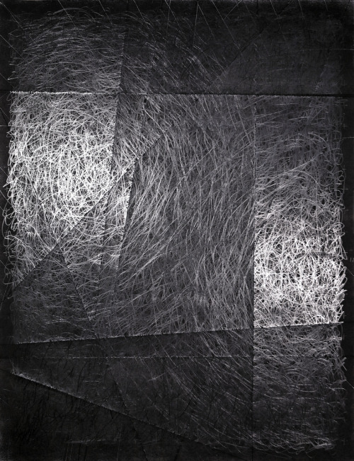 "nervepinch:  matt-niebuhr:  untitled (shimmer)2010_03_15charcoal and graphite on paper22"" x 17""Matt Niebuhr small study… inspired by the possibility of matte charcoal over potential sheen of graphite on folded paper… no doubt also acknowledging inspiration after seeing some of the drawings of Emma McNally… detail below begins to illustrate the quality of sheen….  detail: untitled (shimmer)2010_03_15charcoal and graphite on paper / Matt Niebuhr"