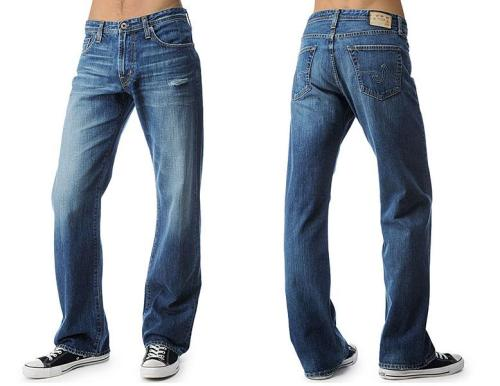 AG Hero in Approach, $195. Loose Fit. Because a guy  can't wear slim jeans all the time; sometimes you just need something  relaxed. Slightly distressed in the front; clean look throughout the rest of the denim. 100% cotton. Made in the USA. Have you heard about AG's eco-friendly process? AG denim now achieves their unbelievable washes by using less water, less energy and less chemicals - creating a cleaner garment for you. Available in Arlington.