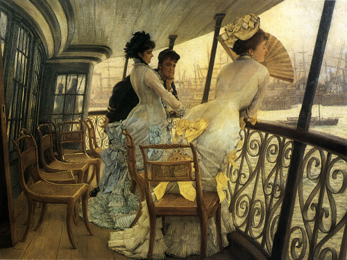 sealmaiden:  James Jacques Tissot 1836-1902 The Gallery of H.M.S. 'Calcutta' (Portsmouth) 1877 (Source)