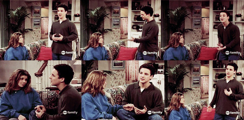 "-inspired:  Cory: Mom, listen, I haven't been together with Topanga for 22 years, but we have been together for 16. That's a lot longer than most couples have been together. I mean, when we were born, you told me that we used to take walks in our strollers together around the block. When we were two, we were best friends. I mean, I knew everything about this girl. I knew her favorite color, her favorite food. Then we became six, Eric made fun of me because it wasn't cool to have a best friend that was a girl or even know a girl. So for the next seven years I threw dirt at her. I like to call those ""the lost years"". Then when I was thirteen, mom, she put me up against my locker and she kissed me. I mean, she gave me my first kiss. She taught me how to dance. She always was talking about these crazy things and I never understood a word she said. All I understood was that she was the girl I sat up every night thinking about, and when I'm with her, I feel happy to be alive. Like I can do anything. Even talk to you like this. So that's, that's what I think is love, Mom.. When I'm better because she's here.  Boy Meets World ♥   (via lolzsapphire)"