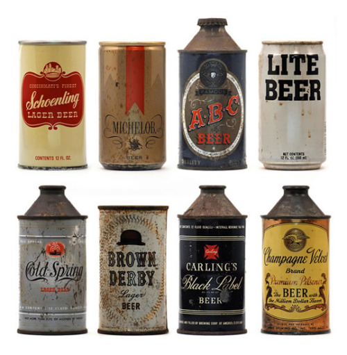 Vintage Beer Cans (via Holiday Matinee » Vintage Beer Cans)
