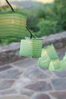 "I really love paper lanterns so I'm considering using them to decorate the tent - did I mention that we're having our reception outdoors in a big tent? By the way, if you're looking for lanterns and following a green theme, don't just search for ""green lantern"" in Google Images. SMH. via www.pinkfrosting.com.au"