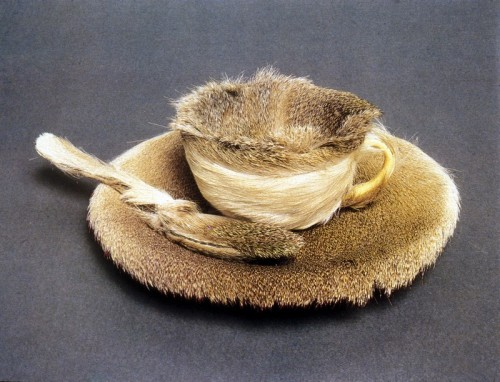 Meret Oppenheim - Fur-covered cup, saucer, and spoon (1936)