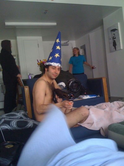 Hey, guys, Naked Wizard Yoni here. I'd just like to tell you all to check out the new and improved Bleak! Comedy.com. Please show it to your Aunt who was always really happy to talk to us whenever she came over. How is she? That's good to hear.