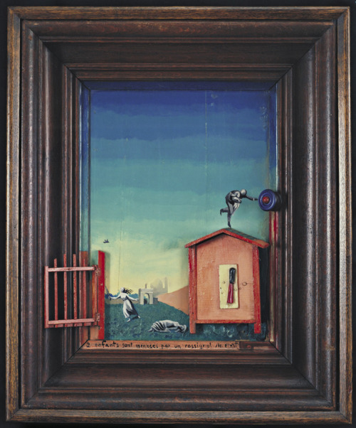 Max Ernst - Two Children Threatened by a Nightingale (1924)