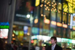 Passing through Times Square by Mareen Fischinger