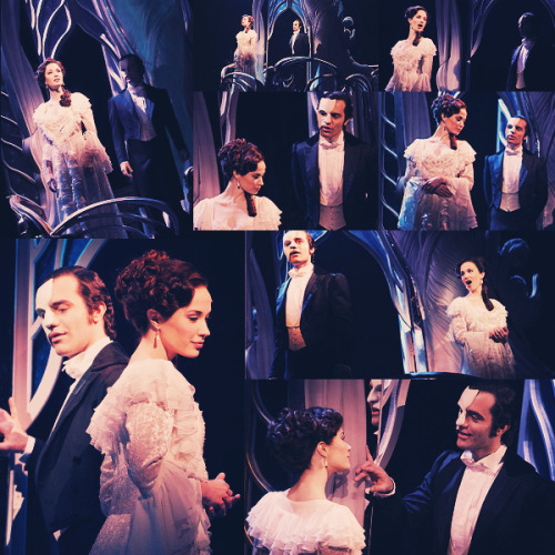 "heckyeahphantomoftheopera:  romanticwhims:  Phantom of the Opera Sequel: Love Never Dies. Sierra Bogges and Ramin Karimloo as Christine Daae and The Phantom (Erik). Scene: ""Beneath the Moonless Sky""And I kissed you and caressed you.And the world around us fell away,we  said things in the dark, we never dare to say.And I caught and I  kissed you,and I took you and caressed you.With our need to barge into  deny.And nothing mattered then except for you and I.Again and then  again,beneath a moonless sky."