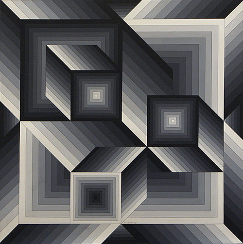 "Victor Vasarely. reblog wowgreat:(via Essayons is French for ""trying""…)"