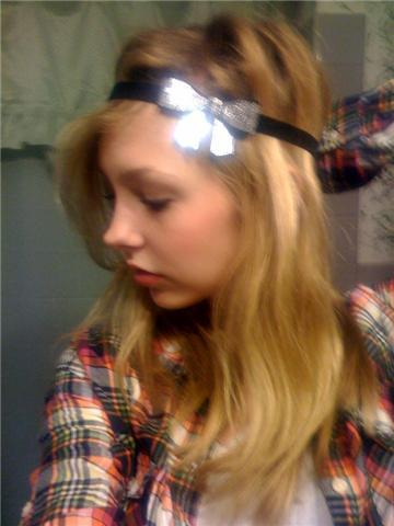 New bow headband : )