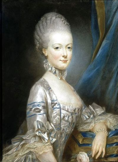 Marie Antoinette, age 14. Damn, just look at that lace…