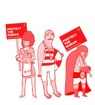 Juan F. Leguizamon created these great illustrations for an amnesty international project. See the rest here.