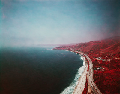 Landscape photographer Florian Maier-Aichen has a really awe-inspiring series of photographs over here. Some of them almost make the natural landscape look incredibly synthetic.