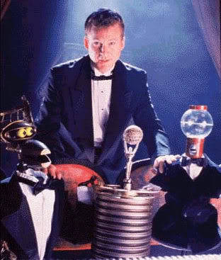 fuckyeahmst3k:  Mike and the Bots at the Oscars!