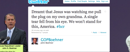 thisistheglamorous:  rillawafers:  Really John Boehner? Really?!   This completely cracks me up.  OH, THE MELODRAMA!
