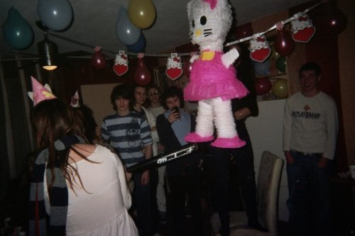 Hello Kitty Pinata and banner. :) My 18th hello kitty surprise party.  Submitted by karlygerharts