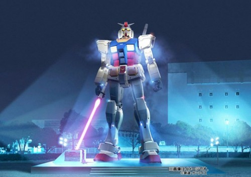 "projektchaos:  gamefreaksnz:  Japan's giant Gundam statue returns But this time, Gundam will be armed with a gigantic ""beam saber"" (in 1:1  scale, as the 18m statue itself). Just like in the eponymous anime  series, he will hold the saber, which will glow during the night, in his  right hand. The city of Shizuoka (some 125 miles west of Tokyo) announced it plans  to re-erect the statue in July this year. And now it has come to light  that it will  really happen [JP] (on the 24th of July, Gundam's 30th birthday, to  be more exact). Shizuoka is the city where most of the Gundam plastic  models come from. [CrunchGear]  About time…  My brother will definitely LOVE this! :3"