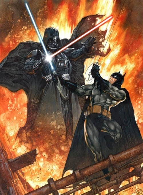 Batman vs. Lord Vader. so epic