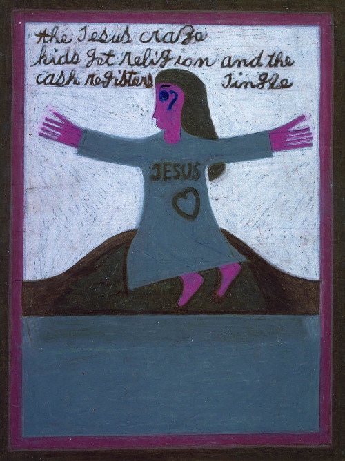 Jesus Craze, 1972  Eddie Arning  (via the smithsonian)