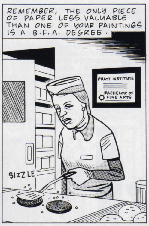 Art School Confidential / Daniel Clowes Originally appeared in issue #7 of Eightball.