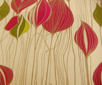 """lovely linear detail in these leafy prints from lorient decor from their krista collection,"" via print & pattern"