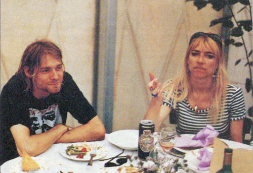 Kurt Cobain & Kim Gordon, 1991.
