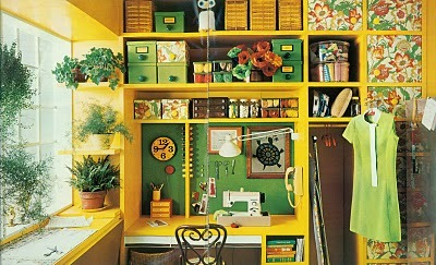 myfarmhouse:  1972 sewing room from doe-c-doe by g