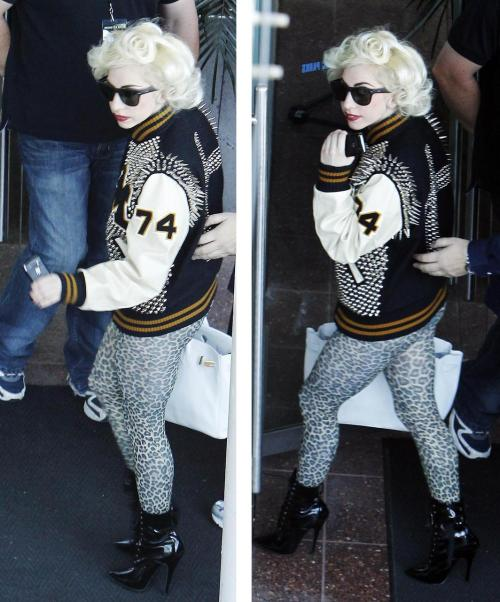 March 24, 2010 - GaGa arrives at Rod Laver Arena, Melbourne.