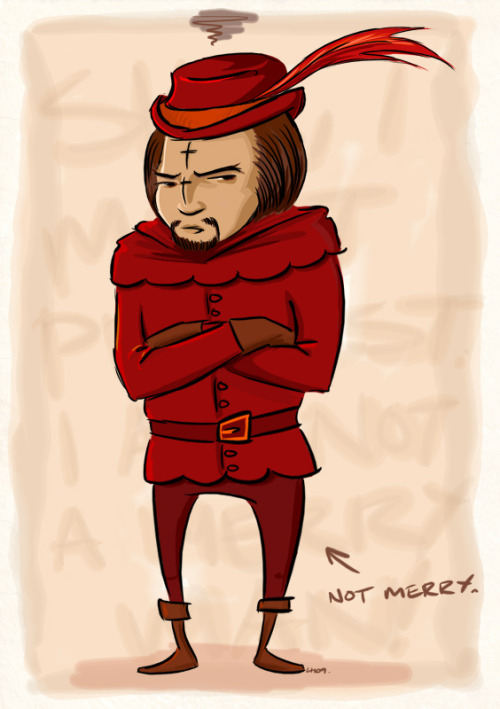 popartinferno:  WORF WILL NEVER BE A MERRY MAN by liquidscissors
