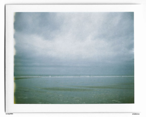Day 79.  Seaside blues. Widemouth Bay, Cornwall, UK. Polaroid Land Camera 240 and 125i film (expired 12/2007). (Polaroid photograph, all rights reserved, copyright: Jo Bradford 2010)
